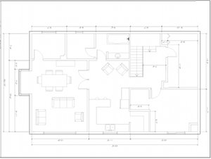 floor plan of house before renovation, too many rooms