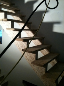 stairs constructed, needs paint